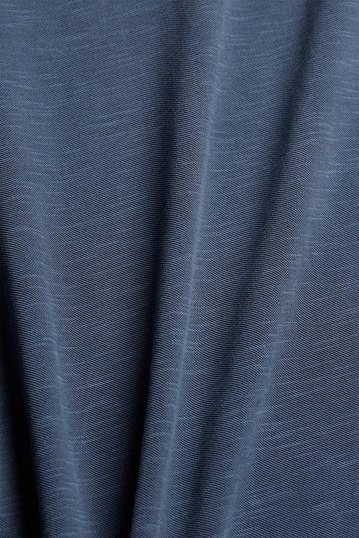 Piqué-Poloshirt aus 100% Organic Cotton, NAVY, detail image number 4