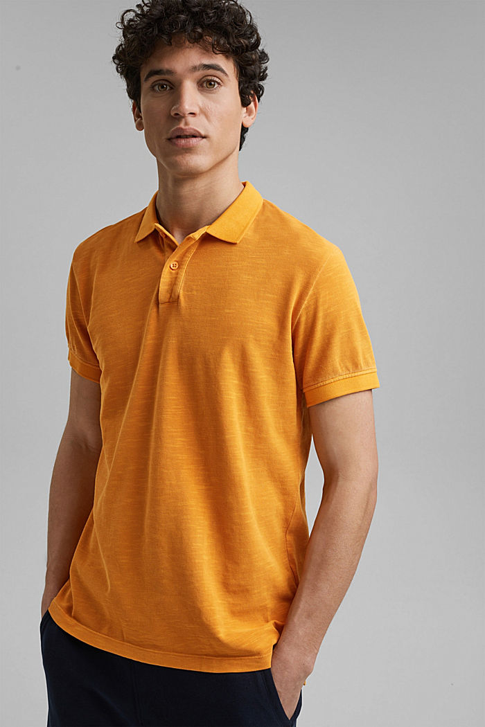 Piqué-Poloshirt aus 100% Organic Cotton, SUNFLOWER YELLOW, detail image number 0