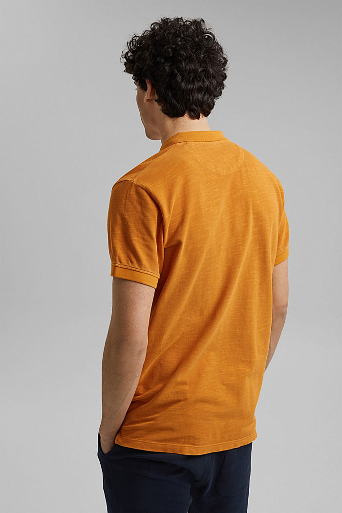 Piqué-Poloshirt aus 100% Organic Cotton, SUNFLOWER YELLOW, detail image number 3