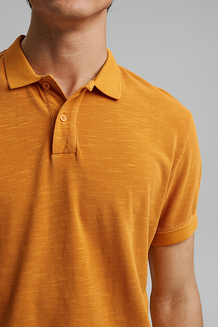 Piqué-Poloshirt aus 100% Organic Cotton, SUNFLOWER YELLOW, detail image number 1