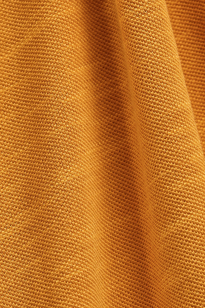 Piqué-Poloshirt aus 100% Organic Cotton, SUNFLOWER YELLOW, detail image number 4