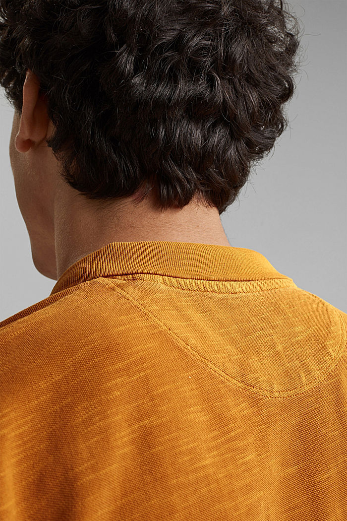 Piqué-Poloshirt aus 100% Organic Cotton, SUNFLOWER YELLOW, detail image number 5