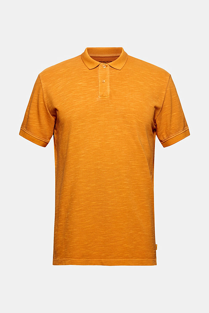 Piqué-Poloshirt aus 100% Organic Cotton, SUNFLOWER YELLOW, detail image number 6