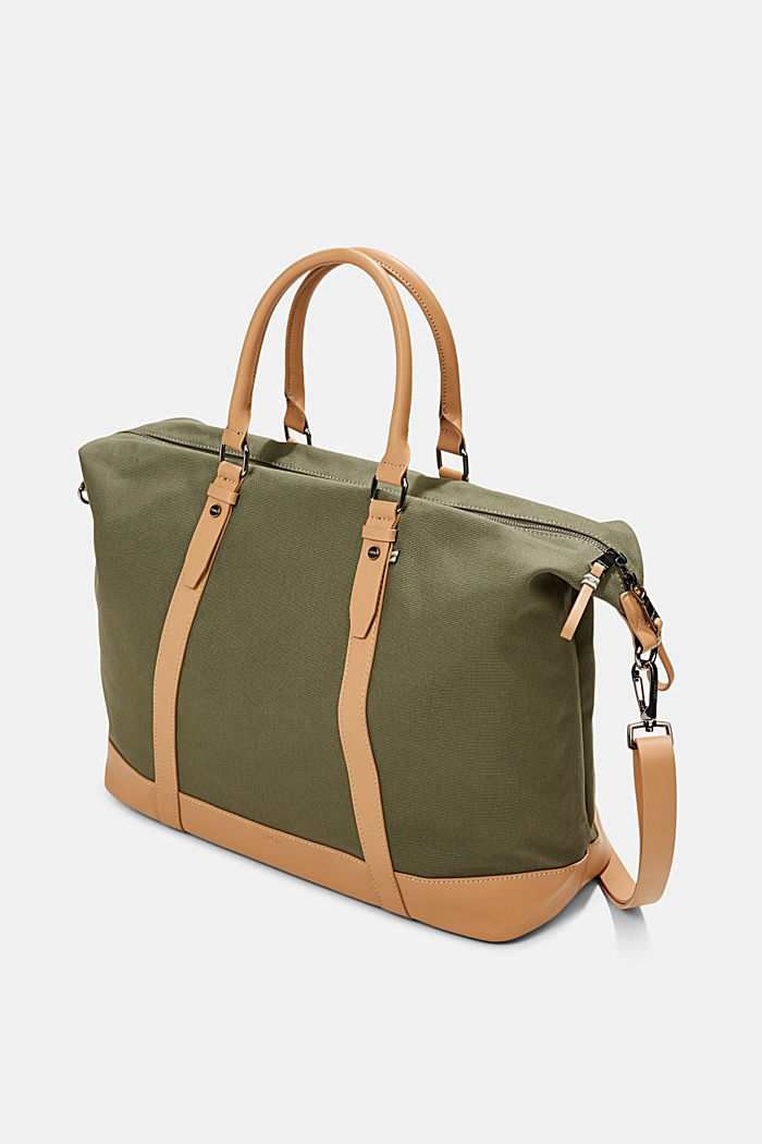 Susie T.: le sac de voyage en toile, végane, OLIVE, detail image number 2