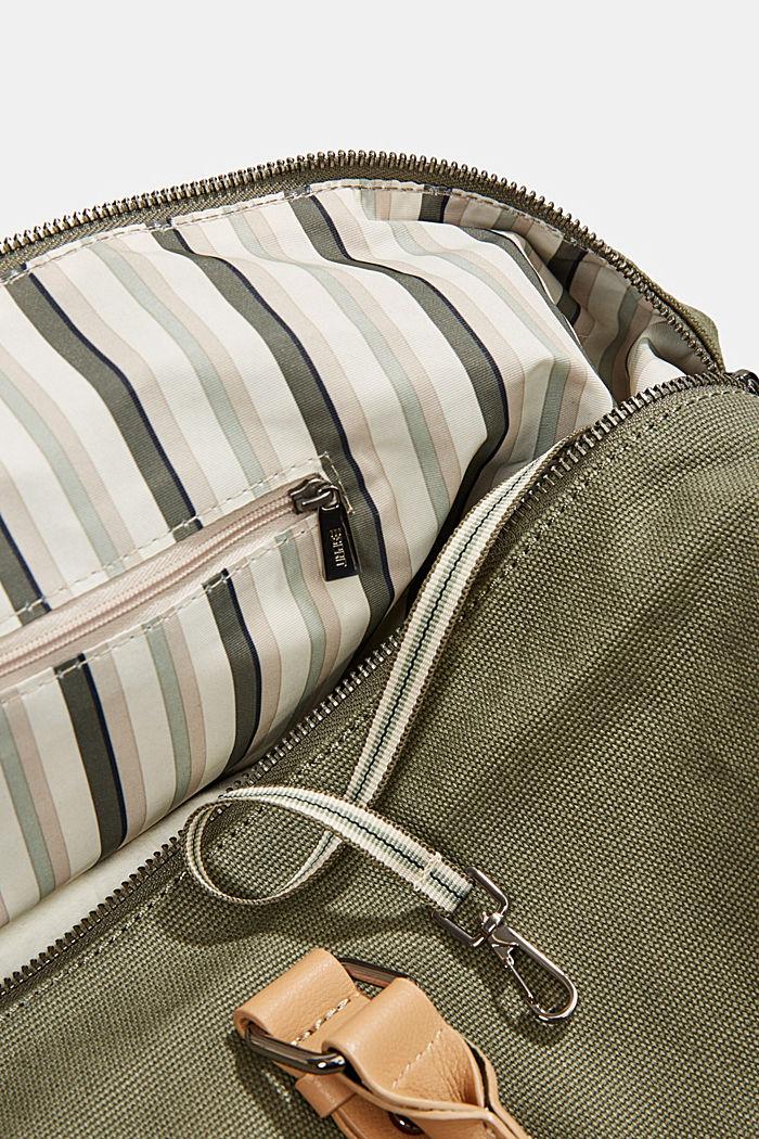 Susie T.: le sac de voyage en toile, végane, OLIVE, detail image number 4