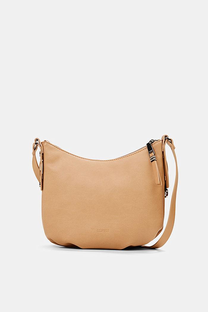 Vegan: small faux leather shoulder bag, CAMEL, detail image number 0
