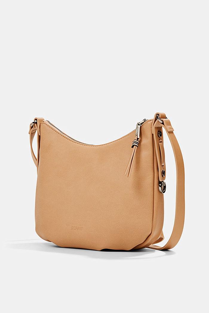 Vegan: small faux leather shoulder bag, CAMEL, detail image number 2