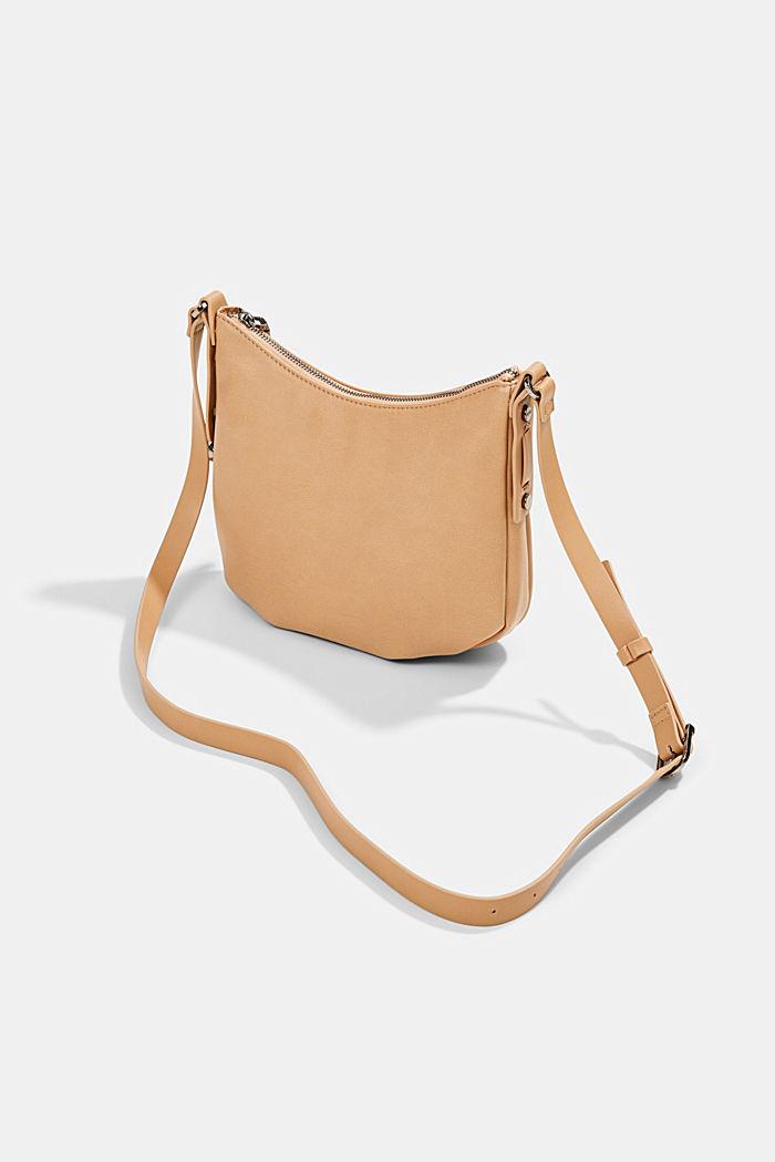 Vegan: small faux leather shoulder bag, CAMEL, detail image number 5