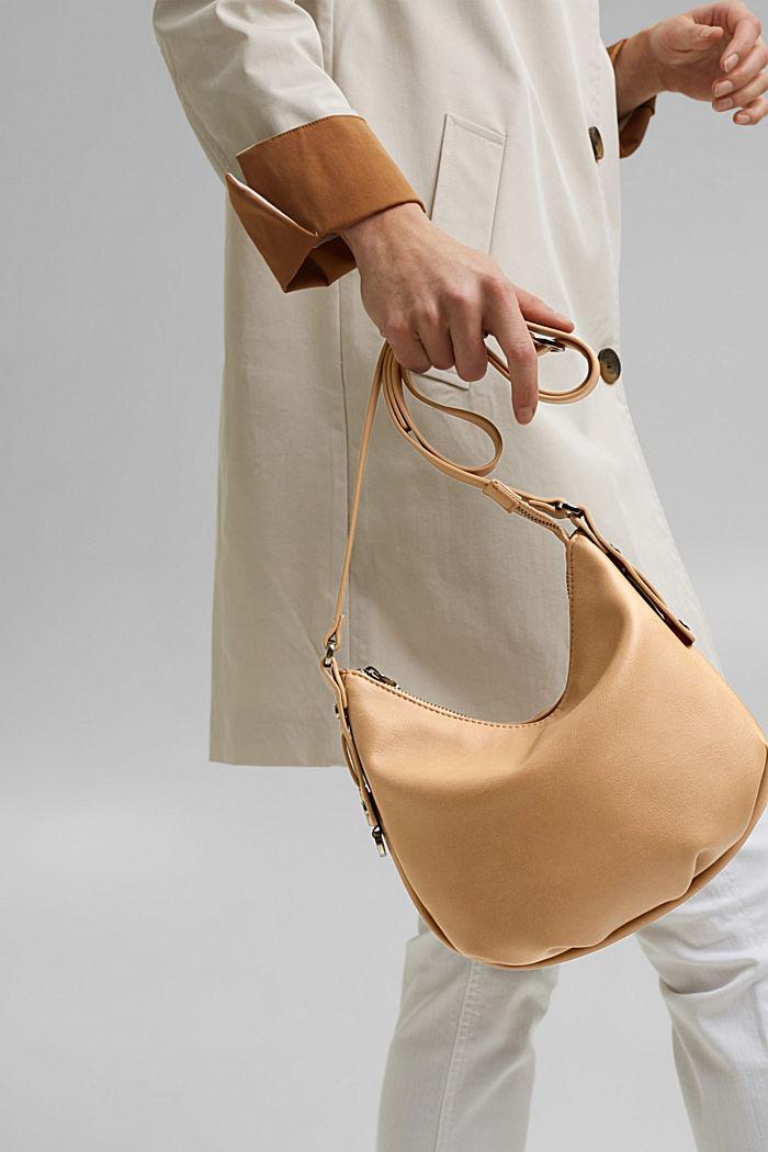 Vegan: small faux leather shoulder bag, CAMEL, detail image number 6