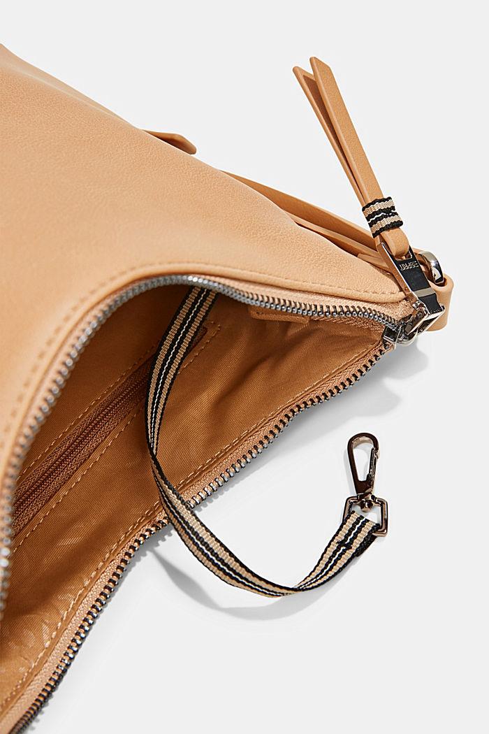 Vegan: small faux leather shoulder bag, CAMEL, detail image number 4