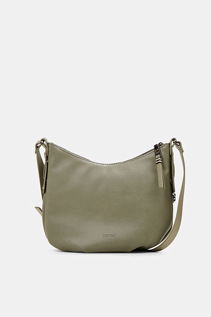 Vegan: small faux leather shoulder bag, OLIVE, detail image number 0
