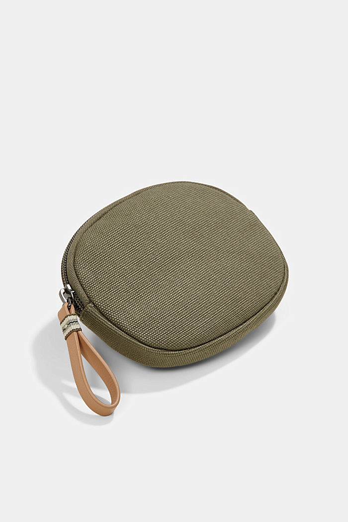Susie T.: Canvas zip pouch, vegan, OLIVE, detail image number 2