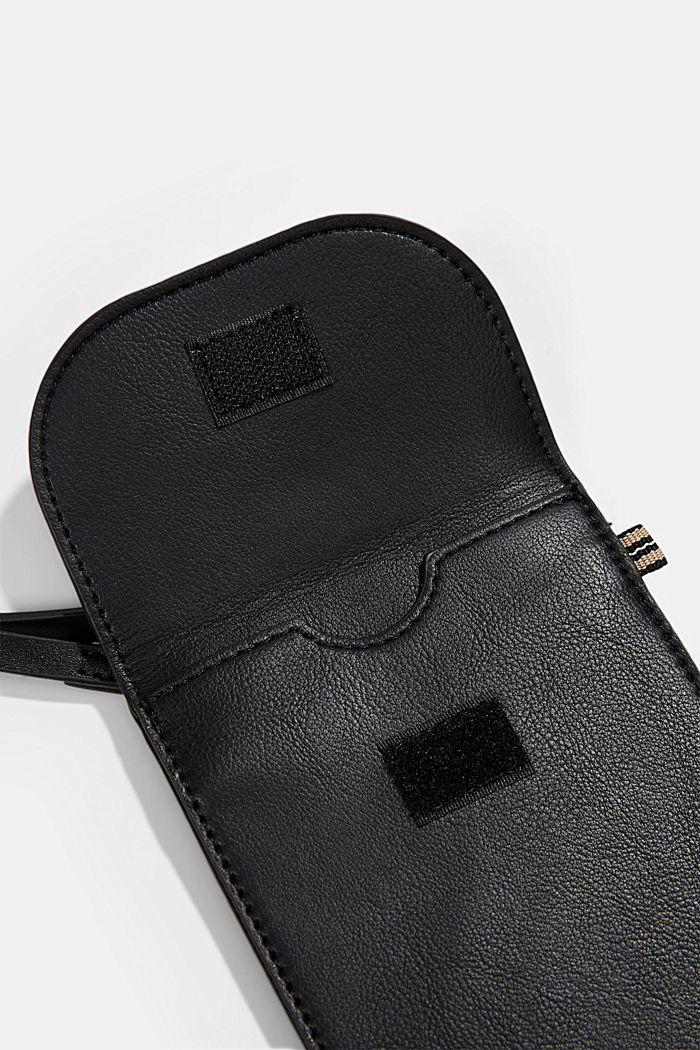 Vegan: Smartphone-Tasche in Lederoptik, BLACK, detail image number 3