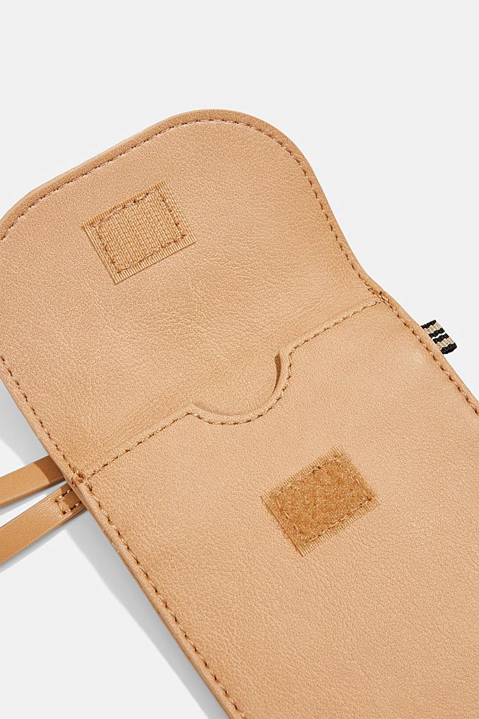 Vegan: Smartphone-Tasche in Lederoptik, CAMEL, detail image number 3