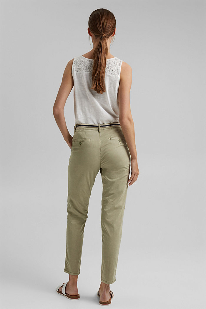 Chinos with innovative stretch fibres, PALE KHAKI, detail image number 3