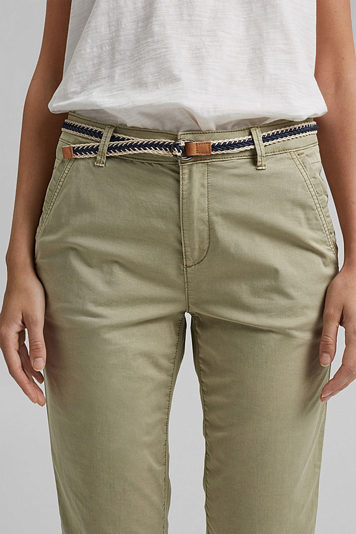 Chinos with innovative stretch fibres, PALE KHAKI, detail image number 2