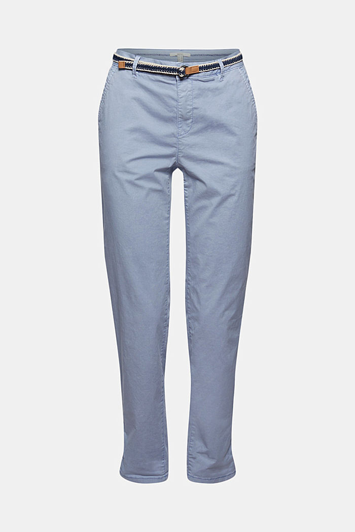 Chinos with innovative stretch fibres