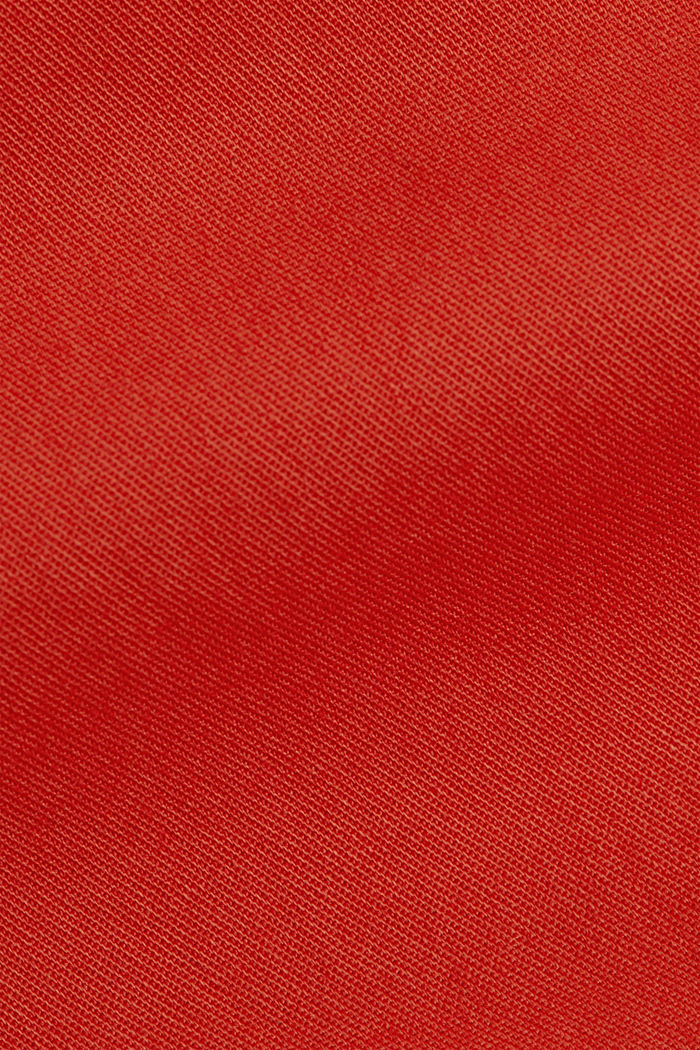 Chinos with innovative stretch fibres, ORANGE RED, detail image number 4