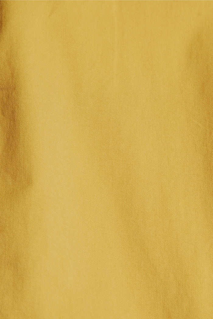 Chinos with innovative stretch fibres, SUNFLOWER YELLOW, detail image number 4