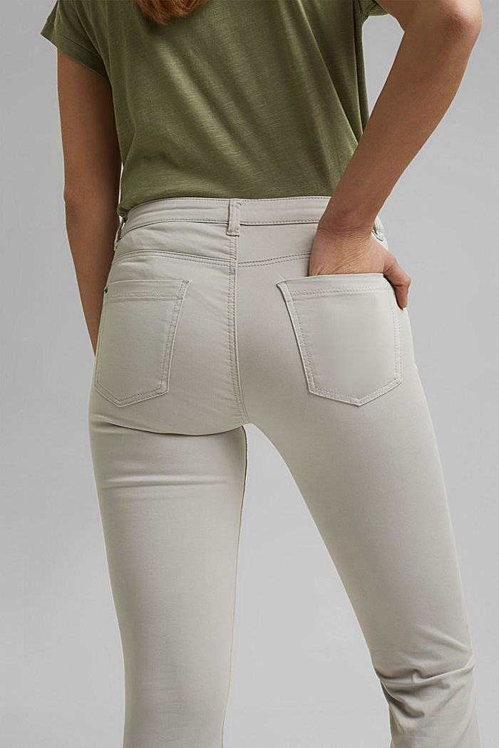 Super stretchy and comfy Capri trousers, LIGHT GREY, detail image number 2