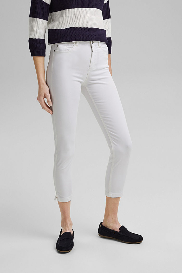 Super stretchy and comfy Capri trousers, WHITE, detail image number 0