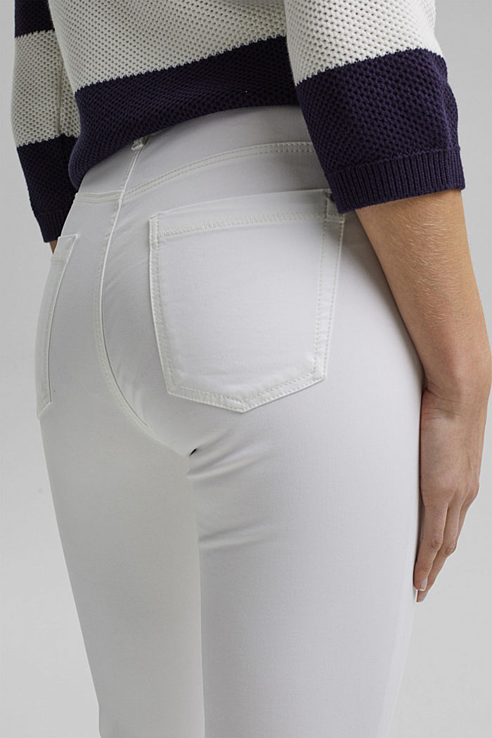 Super stretchy and comfy Capri trousers, WHITE, detail image number 5