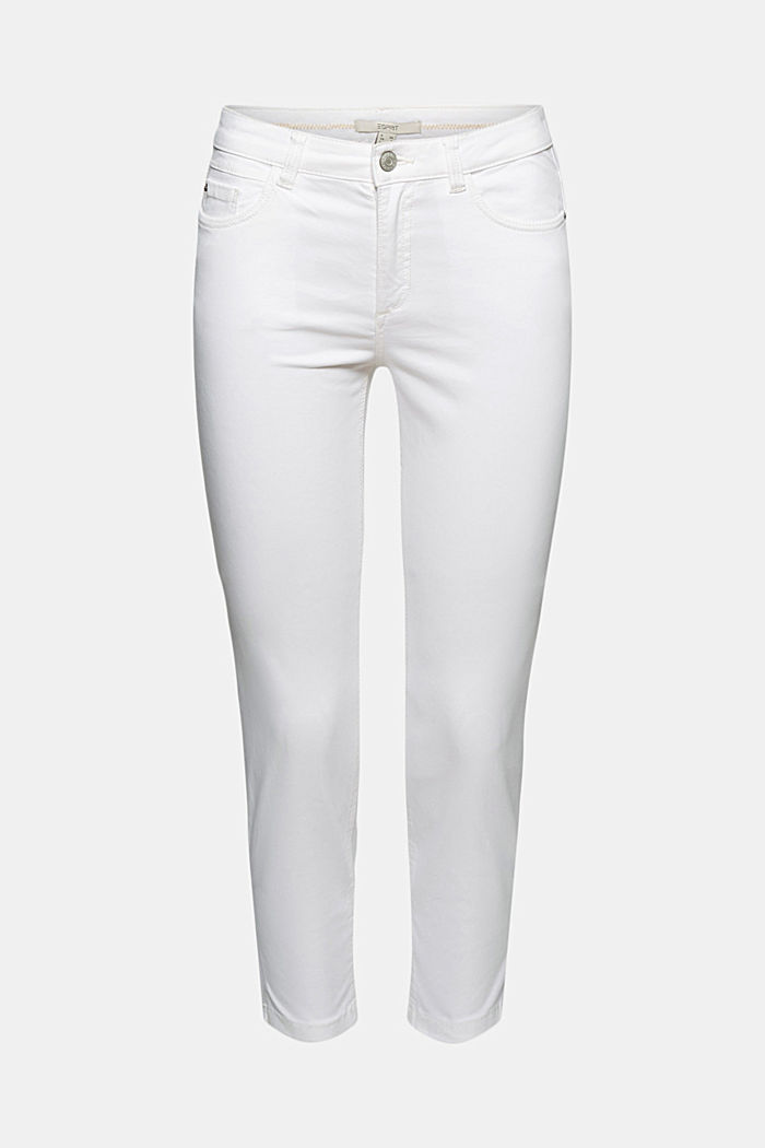 Super stretchy and comfy Capri trousers, WHITE, detail image number 7