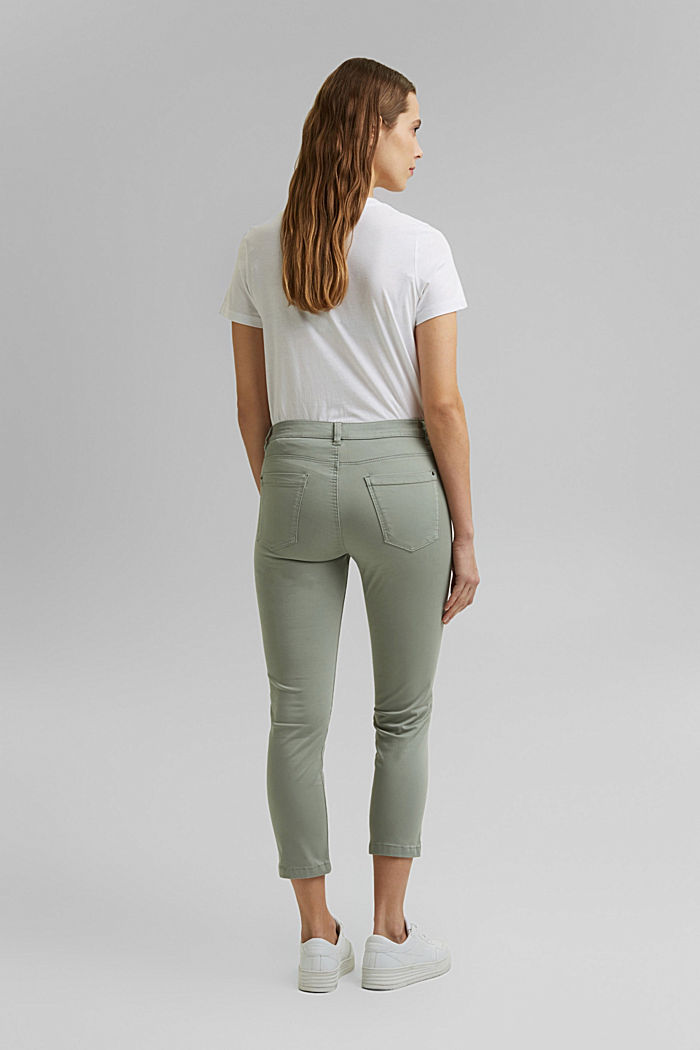 Super stretchy and comfy Capri trousers, LIGHT KHAKI, detail image number 3