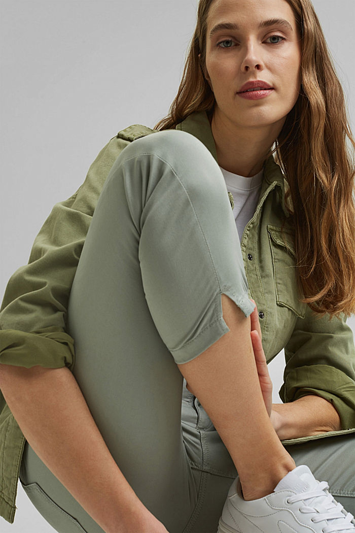 Super stretchy and comfy Capri trousers, LIGHT KHAKI, detail image number 6