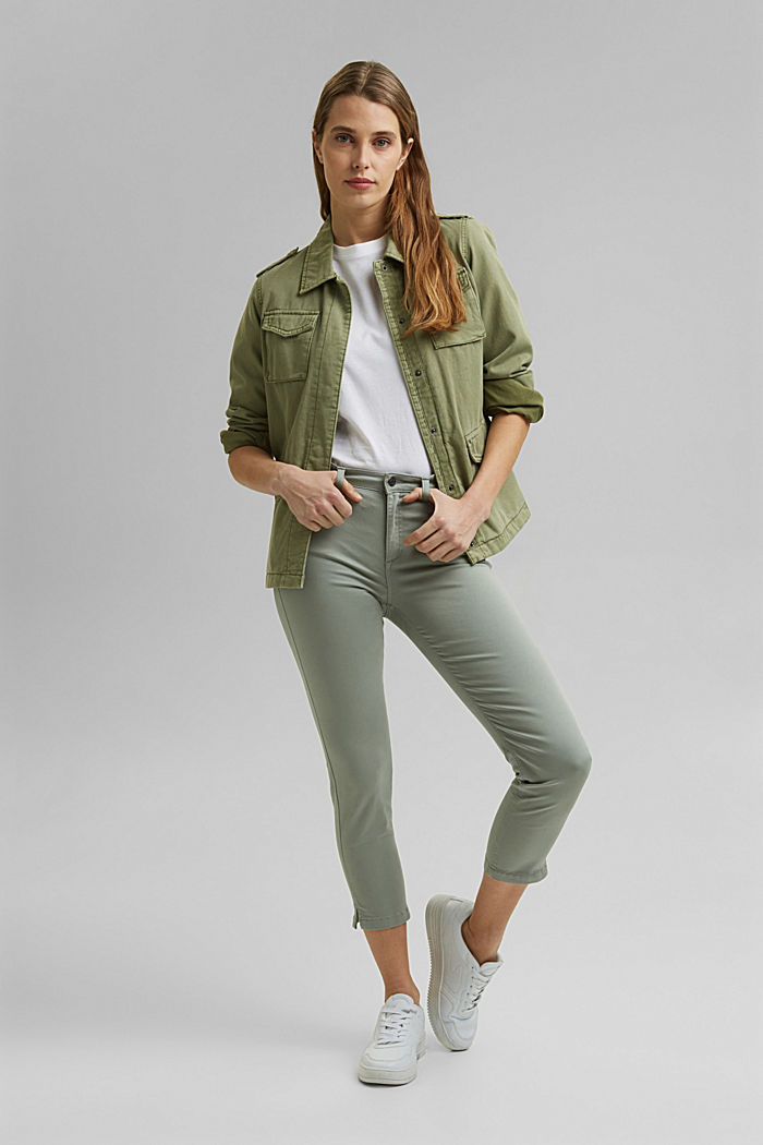 Super stretchy and comfy Capri trousers, LIGHT KHAKI, detail image number 1