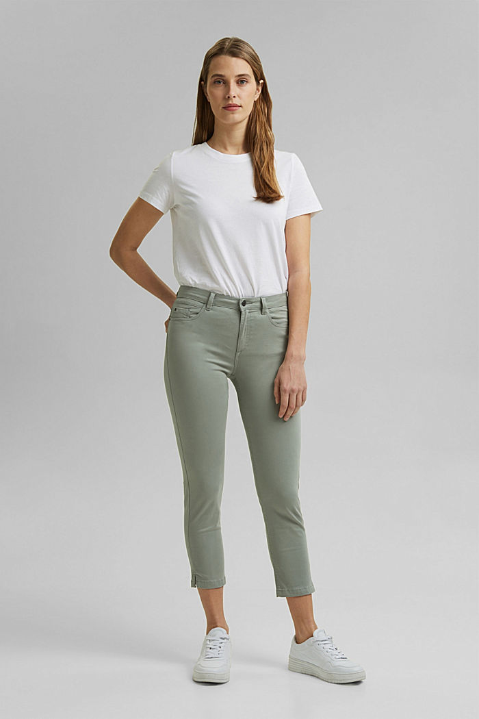 Super stretchy and comfy Capri trousers, LIGHT KHAKI, detail image number 7