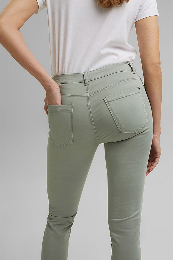 Super stretchy and comfy Capri trousers, LIGHT KHAKI, detail image number 5