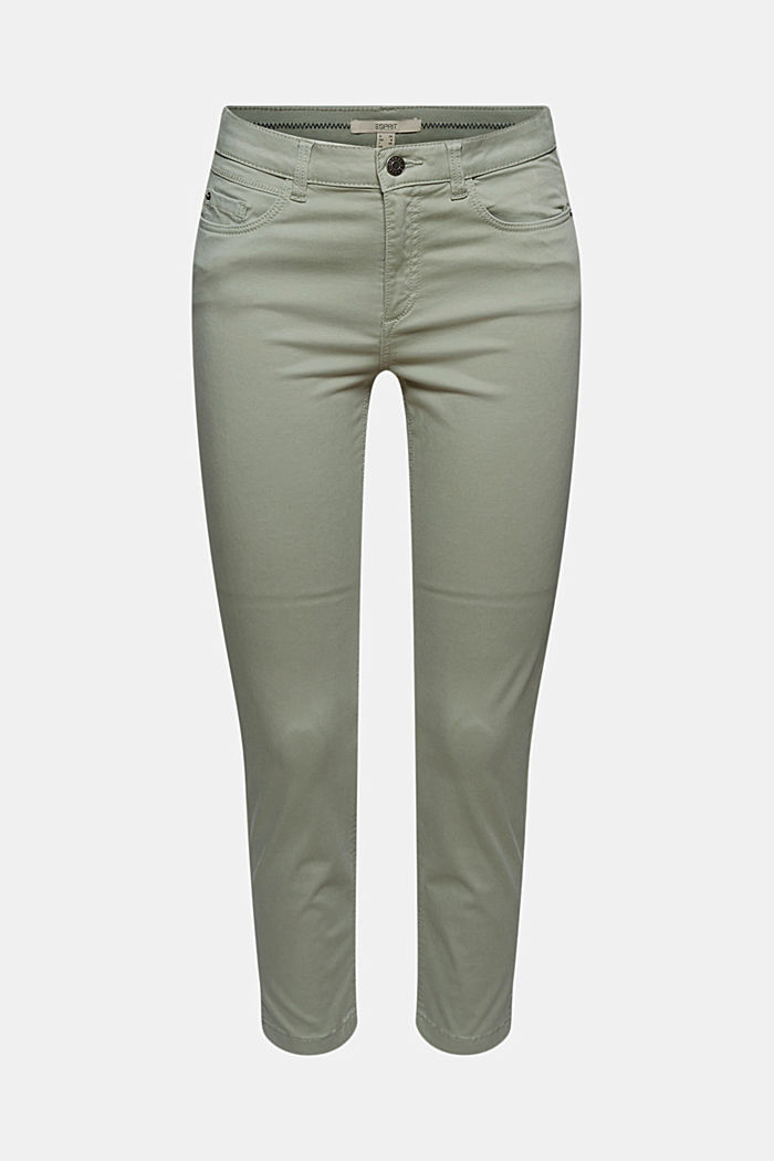 Super stretchy and comfy Capri trousers, LIGHT KHAKI, detail image number 8