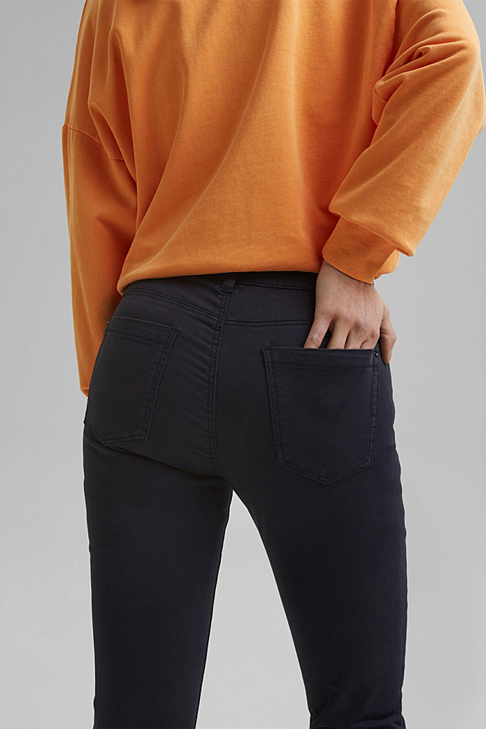 Super stretchy and comfy Capri trousers, NAVY, detail image number 5