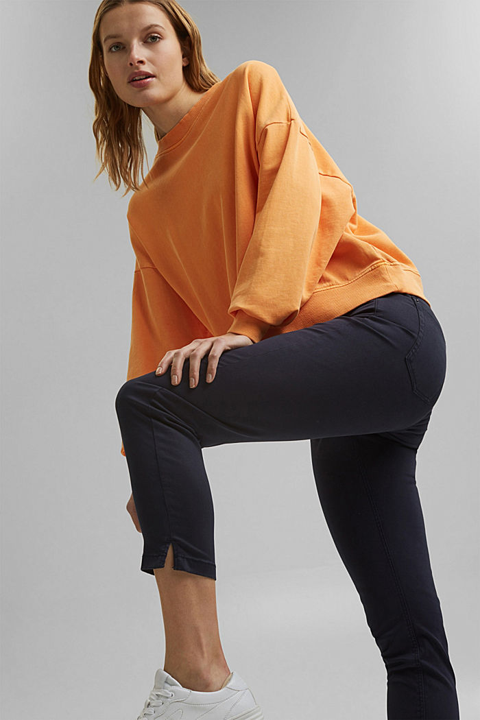Super stretchy and comfy Capri trousers, NAVY, detail image number 0