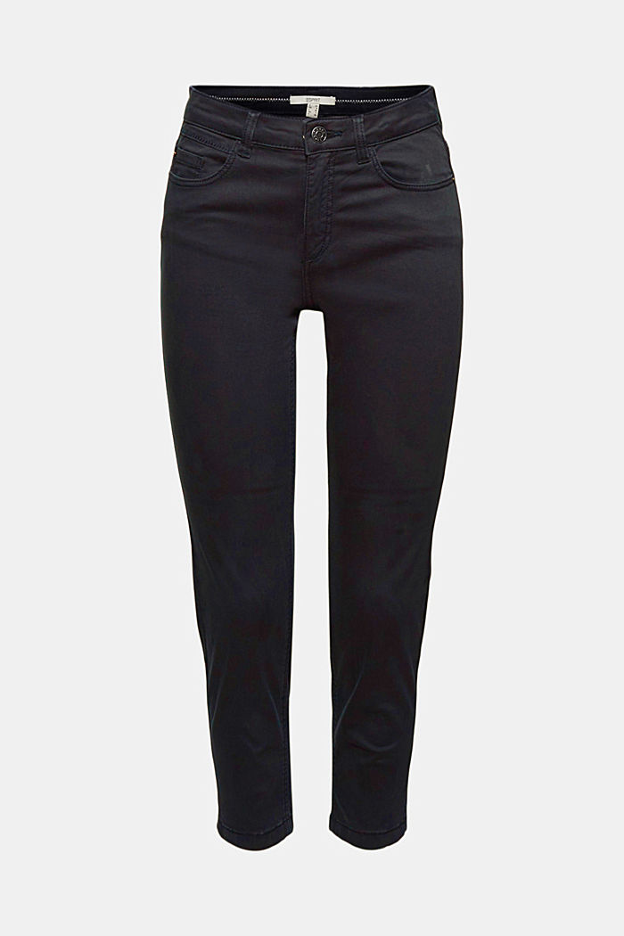 Super stretchy and comfy Capri trousers, NAVY, detail image number 8