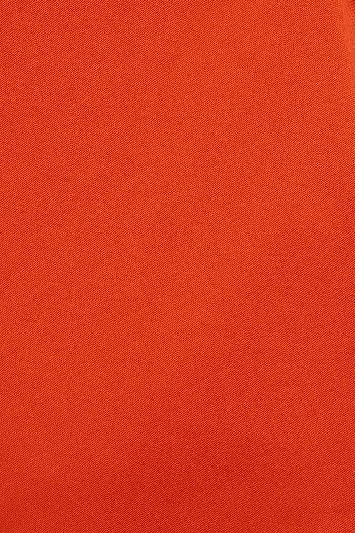 Capribroek met superveel stretch, ORANGE RED, detail image number 4
