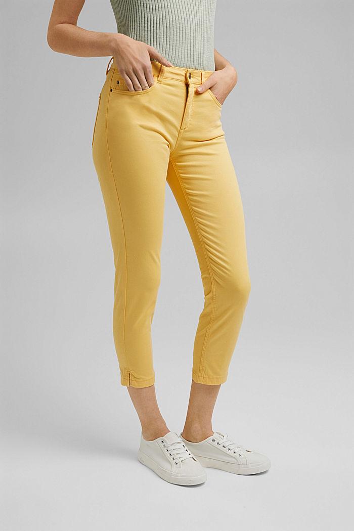 Pantaloni capri super stretch, SUNFLOWER YELLOW, detail image number 0