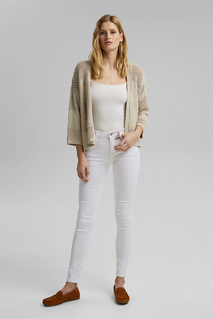 Stretch jeans in organic cotton, WHITE, detail image number 1