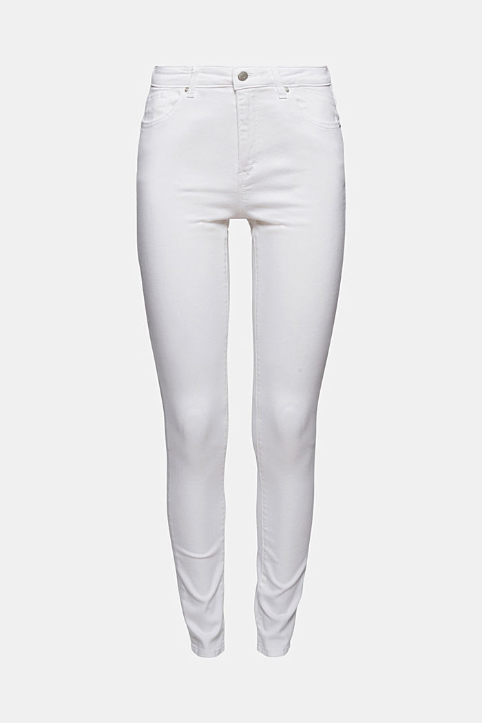 Stretch jeans in organic cotton, WHITE, detail image number 6