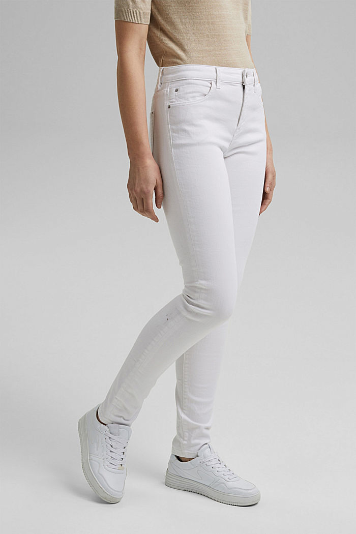Stretch jeans made of organic cotton, WHITE, detail image number 0