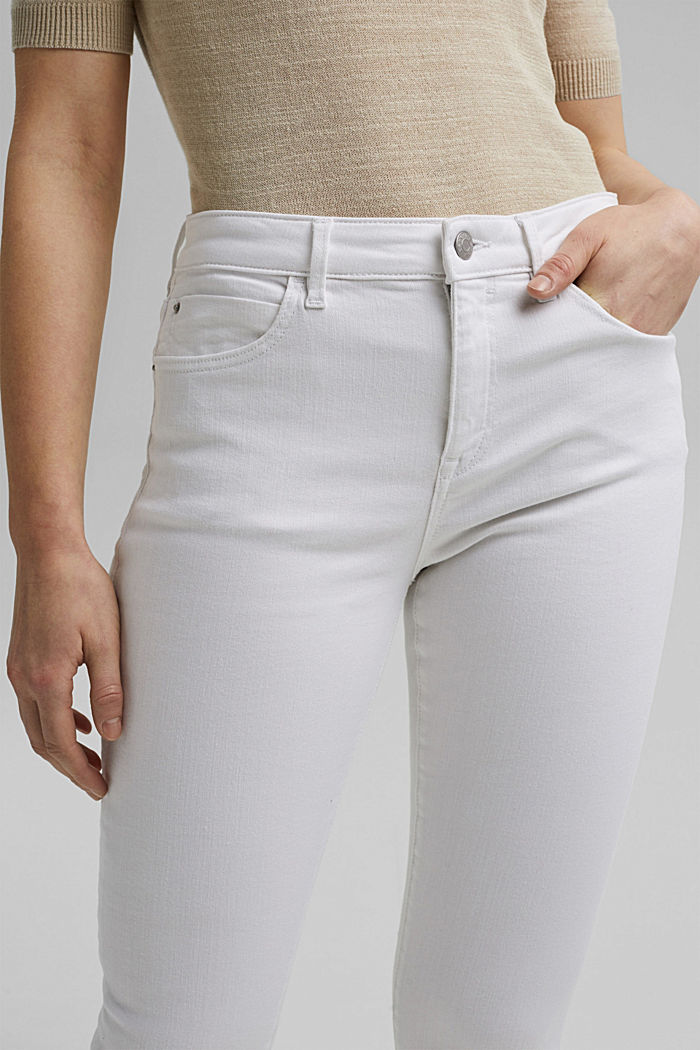 Stretch jeans made of organic cotton, WHITE, detail image number 2