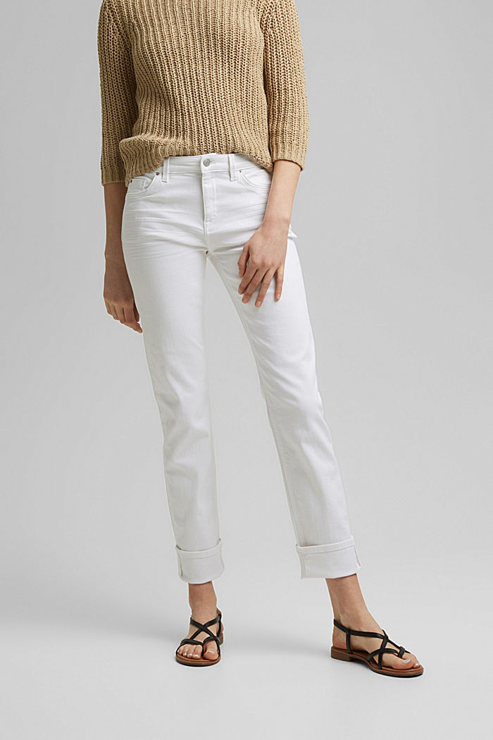 Stretch jeans with organic cotton, WHITE, detail image number 0