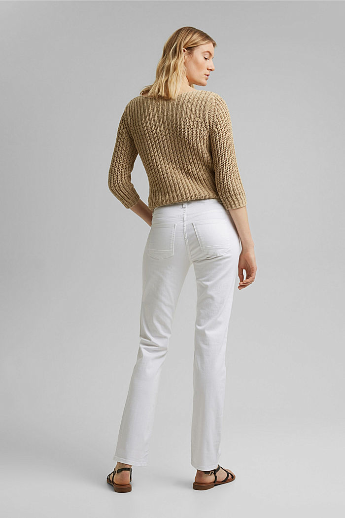 Stretch jeans with organic cotton, WHITE, detail image number 3