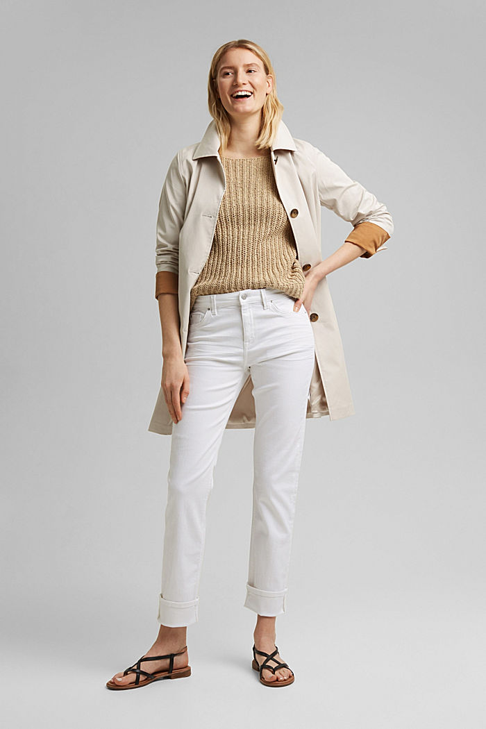 Stretch jeans with organic cotton, WHITE, detail image number 1