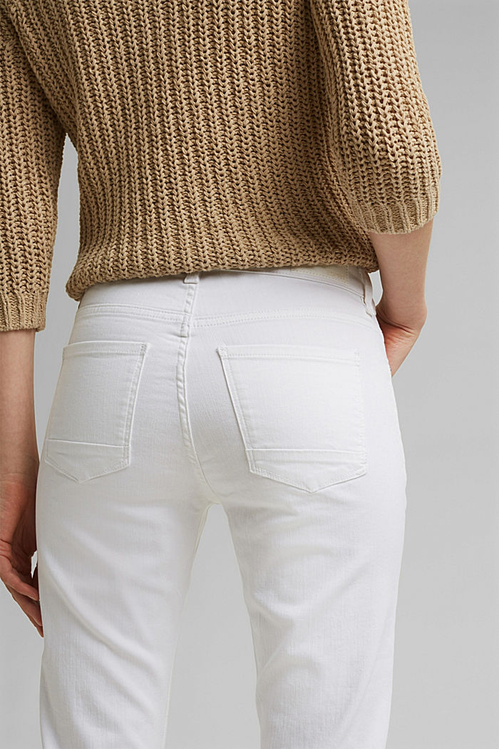 Stretch jeans with organic cotton, WHITE, detail image number 5