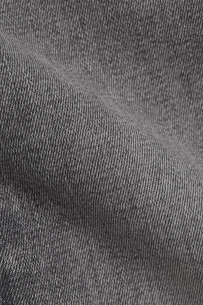 Stretch-Jeans mit Washed-Out-Effekten, GREY MEDIUM WASHED, detail image number 4