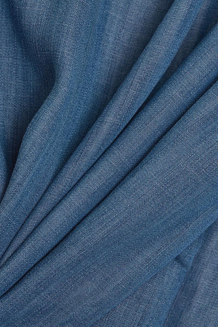 Aus TENCEL™: Jogg-Hose im Jeans-Look, BLUE MEDIUM WASHED, detail image number 4