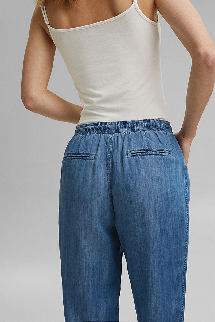 Aus TENCEL™: Jogg-Hose im Jeans-Look, BLUE MEDIUM WASHED, detail image number 5