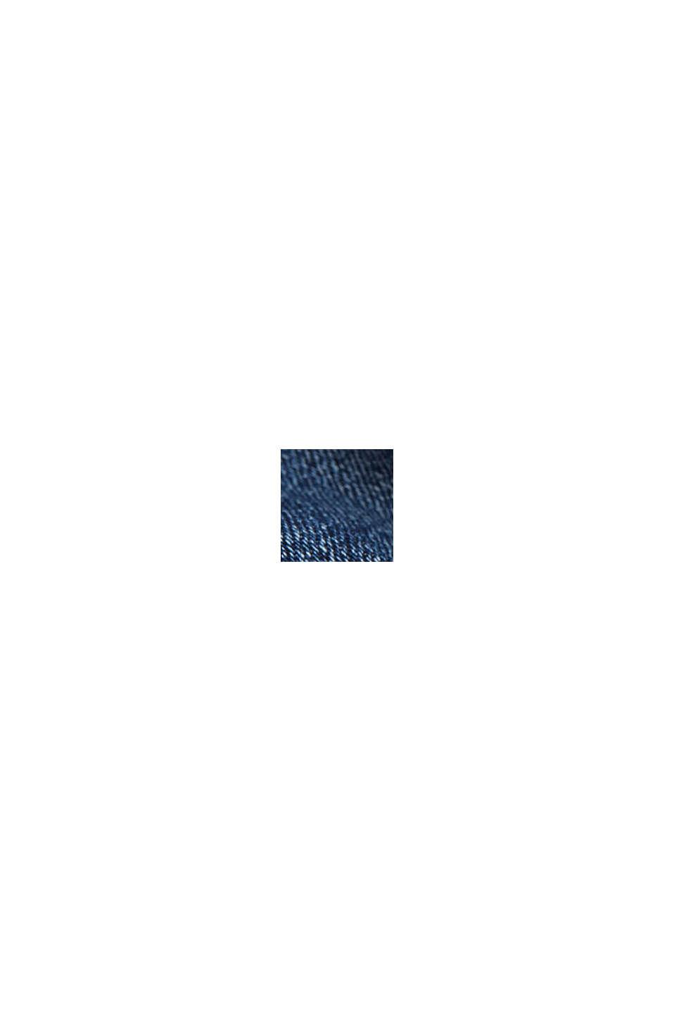 Stretchjeans med ekologisk bomull, BLUE DARK WASHED, swatch